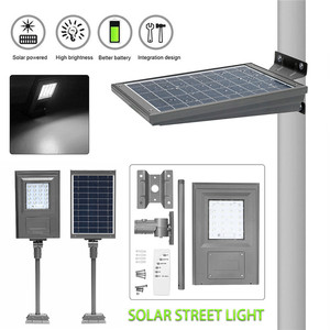 Image 2 - Smuxi 20W Solar Powered Street Light Walkway Light With Remote Controller With Bracket Outdoor Garden Security Lamp