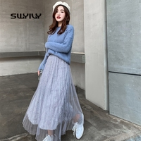 SWYIVY Women Shirt Ankle Length 2019 Female Nice Lacing Shirts Casual Summer Clothing Girl Student Pearl Skirt For Women