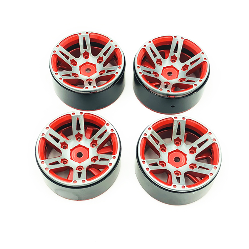 4 piezas Rc Rock Crawler de llanta de rueda de 1,9 pulgadas Beadlock para 1/10 Axial Scx10 90046 Tamiya Cc01 D90 D110 Tf2 traxxas Trx-4