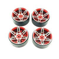 4Pcs Rc Rock Crawler Wheel Rim 1.9 Inch Beadlock For 1/10 Axial Scx10 90046 Tamiya Cc01 D90 D110 Tf2 Traxxas Trx 4