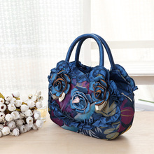 2018 New Pattern Mom bag Mobile Phone handbags ladies flower soft silk totes ladies fashion day clutch wedding bags shoulder bag