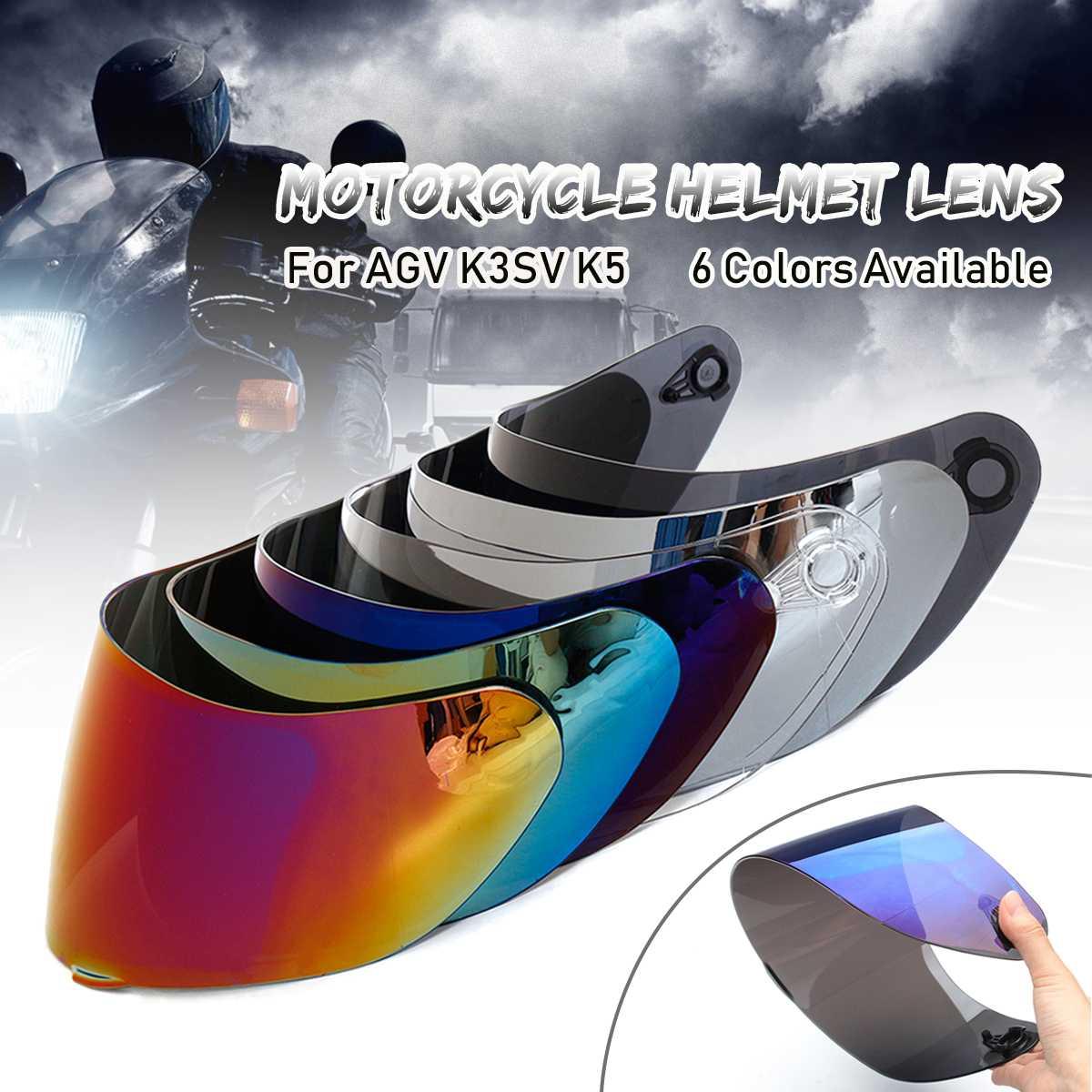 Visera del casco para AGV K5 K3 SV casco de la motocicleta escudo partes original gafas para agv k3 sv k5 moto casco lente de cara completa