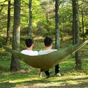 Image 5 - Promotion! Portable Camo High Strength Parachute Fabric Camping Hammock Hanging Bed With Mosquito Net Sleeping Hammock Camo