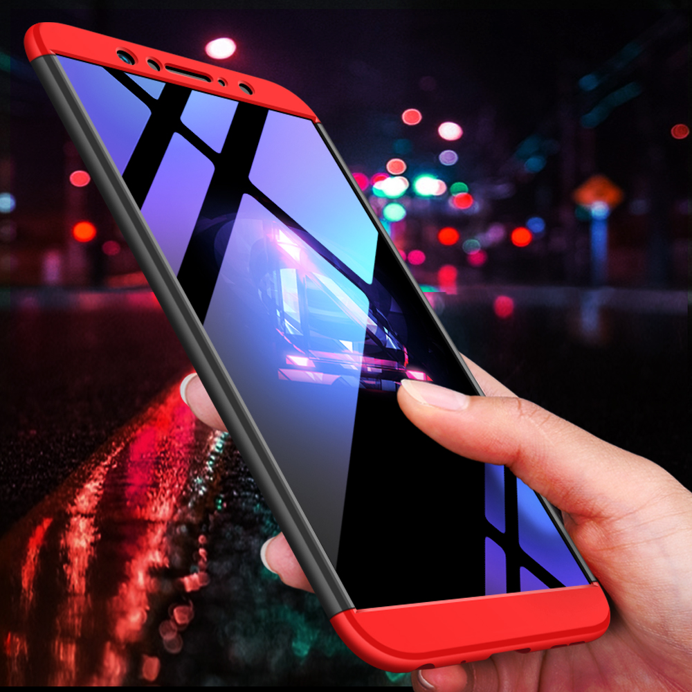 For <font><b>Asus</b></font> <font><b>Zenfone</b></font> <font><b>Max</b></font> <font><b>Pro</b></font> M1 ZB601KL Case <font><b>360</b></font> Degree Protected Full Body Phone Case 3-in-<font><b>1</b></font> Plastic Case For ZB601KL Cover+glass image