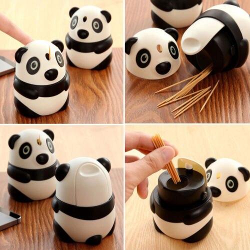Bereidwillig Tandenstoker Automatische Houder Box Dispenser Home Vat Decor Panda Vormige Mode