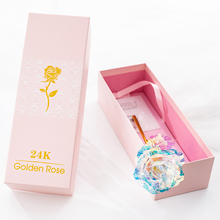 24K Beautiful Rose Simulation Gradient Artificial Flower Elegant Colorful Gift Box ValentineS Day Christmas Gifts