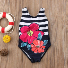 цены на Girls Floral Printing Swimwear 2018 Toddler Kids Baby Girls One Piece Bikini Tankini Swimwear Swimsuit Bathing Suit Beachwear  в интернет-магазинах