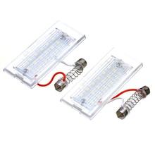 2Pcs/set Car Trunk LED License Plate Lights 18LED Error Free License Number Plate Light For BMW X5 E53 X3 E83 цены