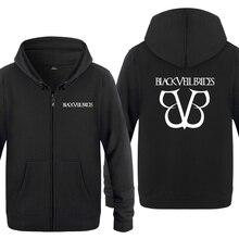 Black Veil Brides Rock Band Hoodies ชาย 2018 ชายขนแกะซิป Cardigans Hooded Sweatshirts