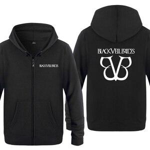 Image 1 - Black Veil Brides Rock Band Hoodies Men 2018 Mens Fleece Zipper Cardigans Hooded Sweatshirts