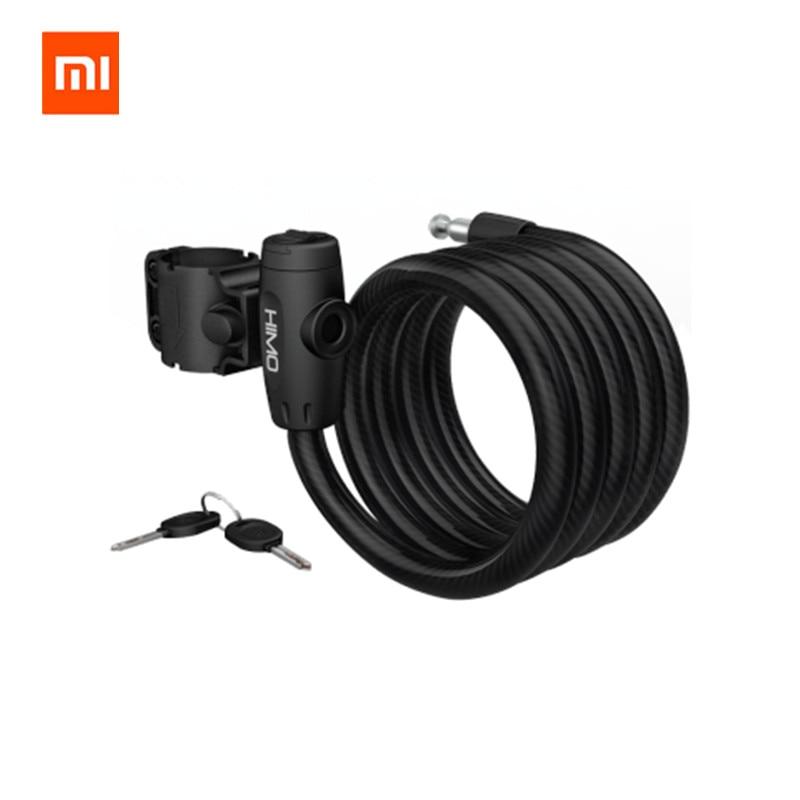 Original xiaomi mijia HIMO L150 Portable Folding Cable Lock Electric Bicycle Lockstitch from Xiaomi youpin xiaomi smart home kit