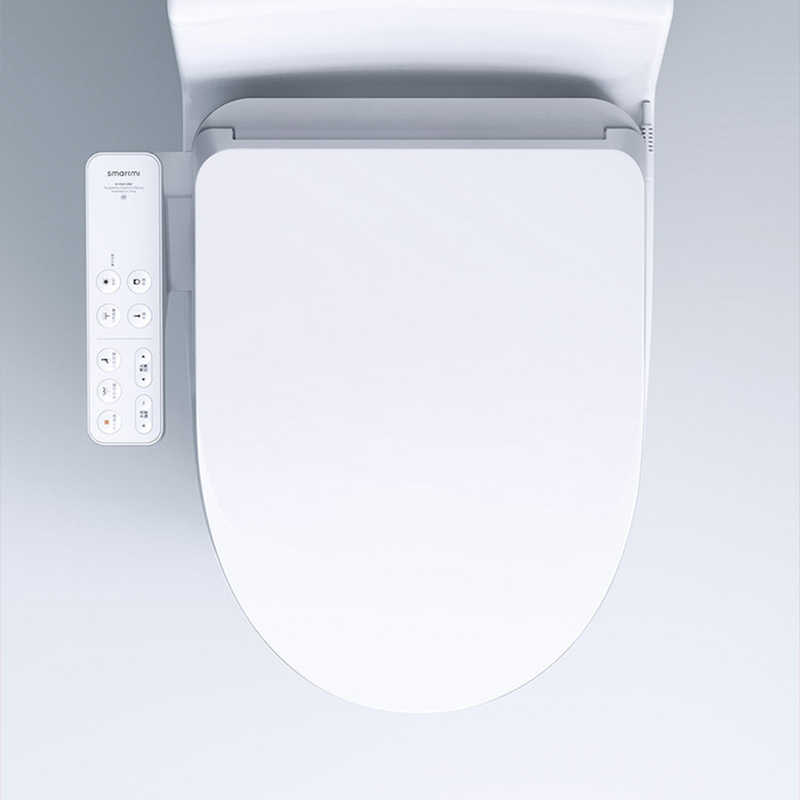 Smartmi Xiaomi พรมรองพื้นเบาะยาว Bidet ไฟฟ้าฝาครอบทำความสะอาดห้องน้ำอัจฉริยะฝาปิดสำหรับ Xiaomi Mi Smart Home