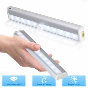 Cabinet Light LED Night Light Wireless LED Lamp With IR Motion Sensor Detector For Cabinet and Wardrobe - DISCOUNT ITEM  25% OFF All Category