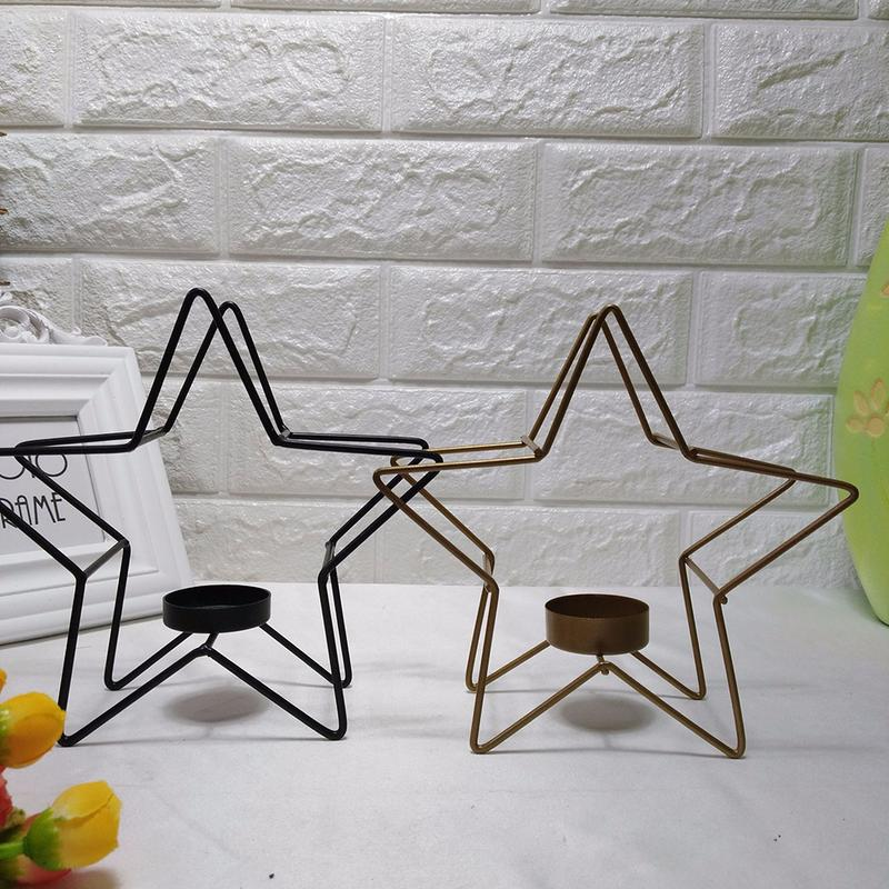 Candle Holders Decoration Home Candlestick Restaurant Gold Wood Iron Dinner Table Wedding Birthday Party Candle Holder Romantic S $