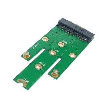 10pcs/lot CY 50mm Mini PCI-E 52Pin mSATA SSD to M.2 NGFF B-key Adapter Add on Cards PCBA