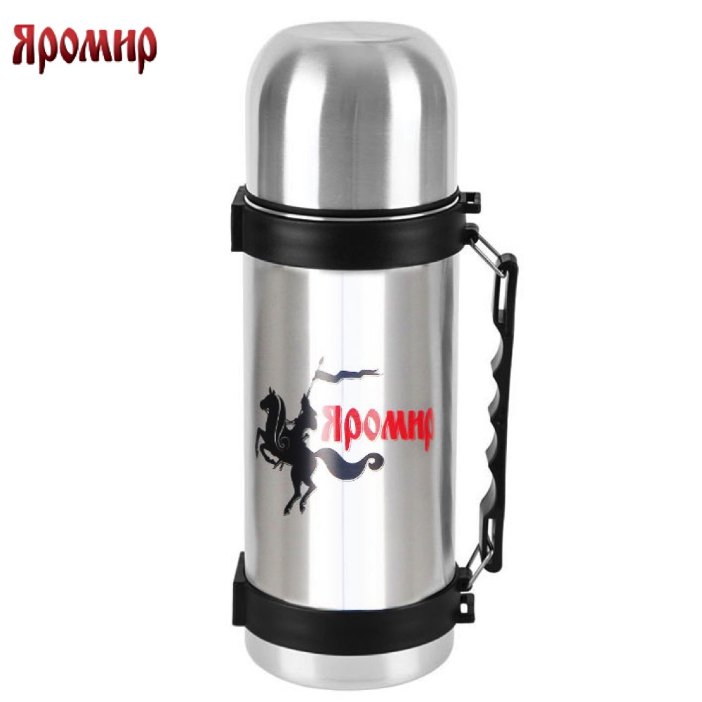 Vacuum Flasks & Thermoses Yaromir YAR-2033M thermomug thermos for tea Cup thermo keep сup stainless steel water mug food flask 9 stainless steel food utility tong