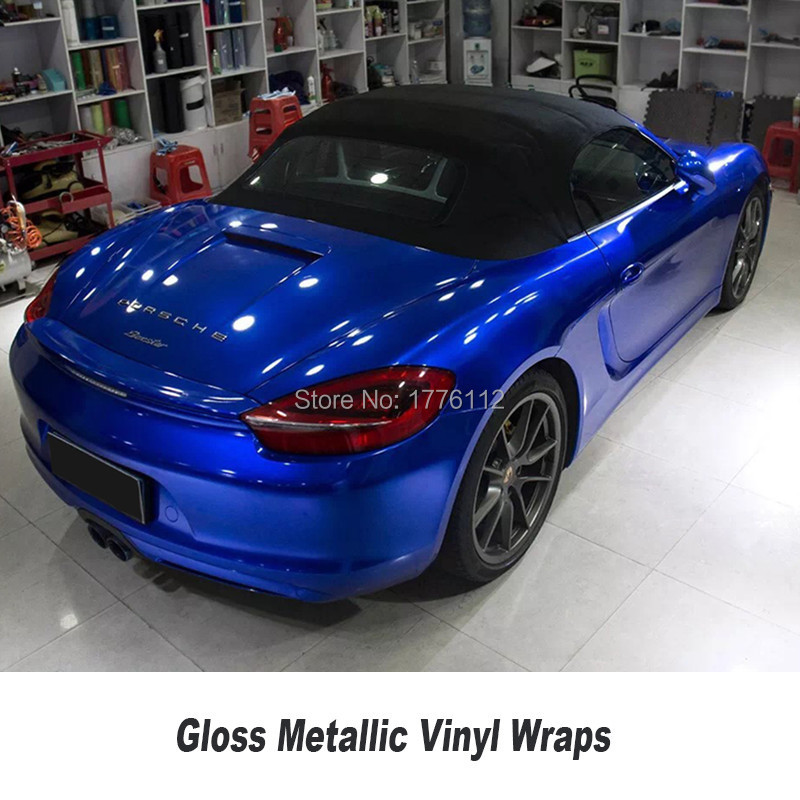 Glossy Gem Blue Candy Color Car Vinyl Wrap Easy To Clean