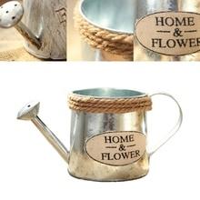 Vintage Succulent Planting Pots Handicraft Watering Flower Pot Iron Art Flower Bucket Home Balcony Decoration стоимость