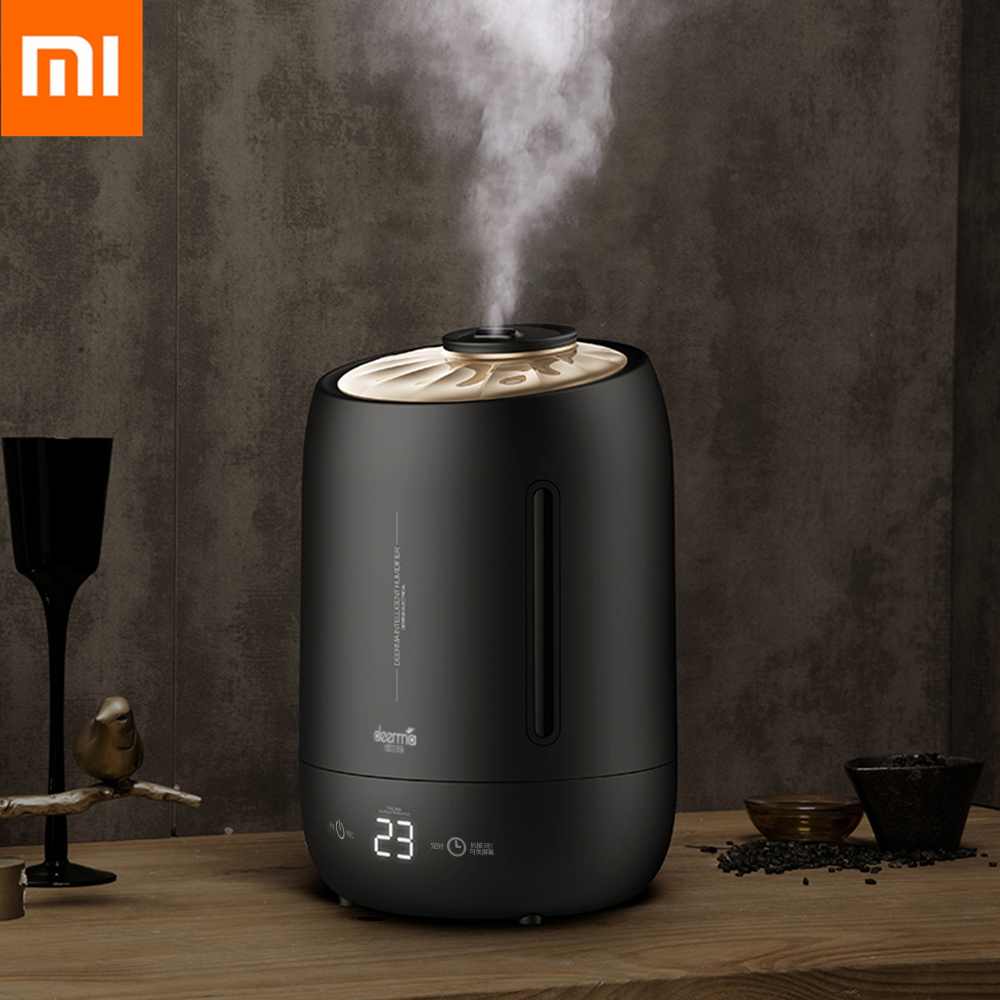 Xiaomi deerma 5l umidificador de ar purificador ar névoa maker timing do agregado familiar com tela toque inteligente quantidade nevoeiro ajustável