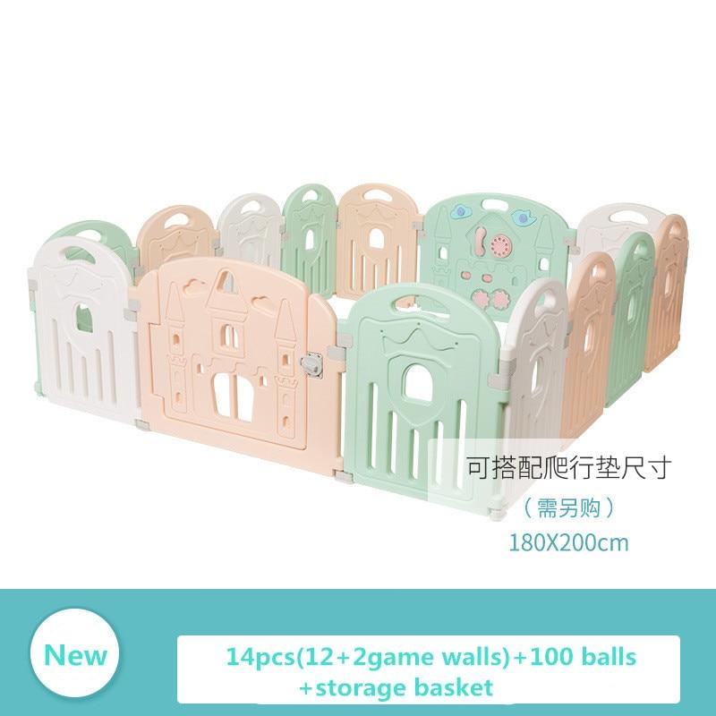 60 cm de haut bébé jouer tapis clôtures de sécurité avec des balles d'océan jouet panier de stockage intelligent murs de jeu bébé aire de jeux en sécurité à la maison