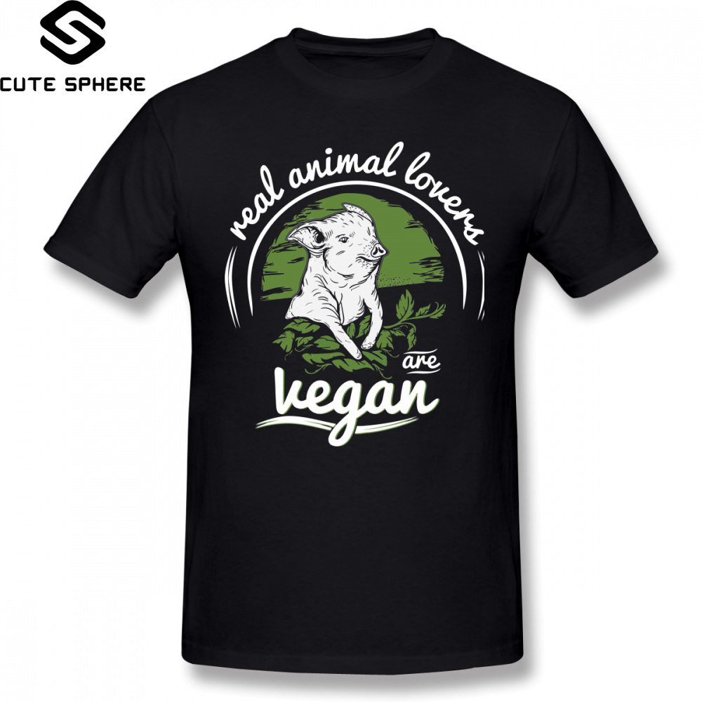 Vegan T Shirt Vegan T-Shirt Fashion Print Tee Shirt Short-Sleeve Awesome Cotton Male 4xl Tshirt