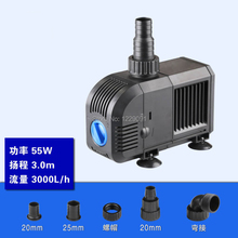 цена на 55w 3000L/H 3m head 220v AC small water pump aquarium circulating filter Submersible water pump fish tank fountain pump
