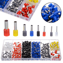 цена на 1200PCS Insulated Ferrules Terminal Block Cord End Wire Connector Electrical Crimp Terminals Cable Lugs Assortment 0.5-10mm2