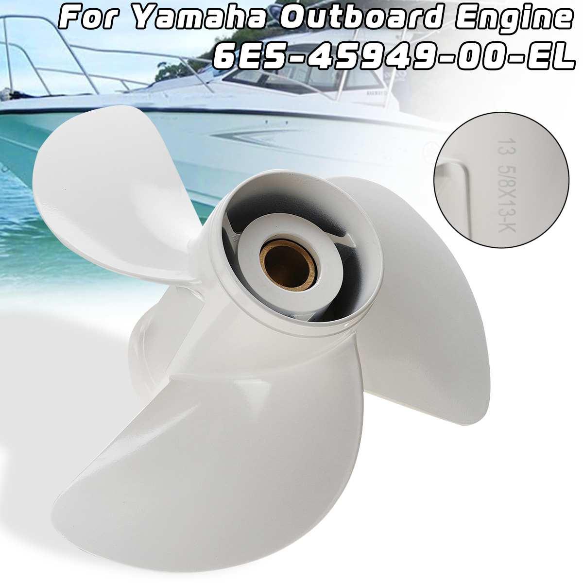 Fuoribordo Elica 6E5-45949-00-EL 13 5/8x13 Misura Per Yamaha 50-140HP 3 Lame R Rotazione In Lega di Alluminio 15 Spline Tooths