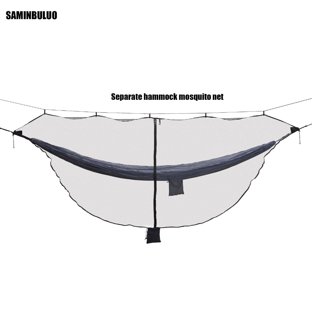 Lightweight Hammock Bug Mosquito Net  Easy Setup Outdoor Double Single Hammocks for 360 Degree Protection Dual Sided Zipper(China)