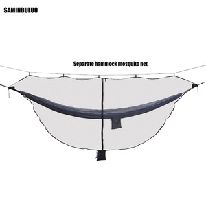 Image 1 - Lightweight Hammock Bug Mosquito Net  Easy Setup Outdoor Double Single Hammocks for 360 Degree Protection Dual Sided Zipper