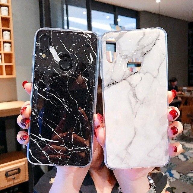 Marble Silicon Soft TPU Back Cover On For Xiaomi Mi 8 9 Mi8 mi9 lite Redmi Note 6 7 Pro Capa Luxury Phone Case