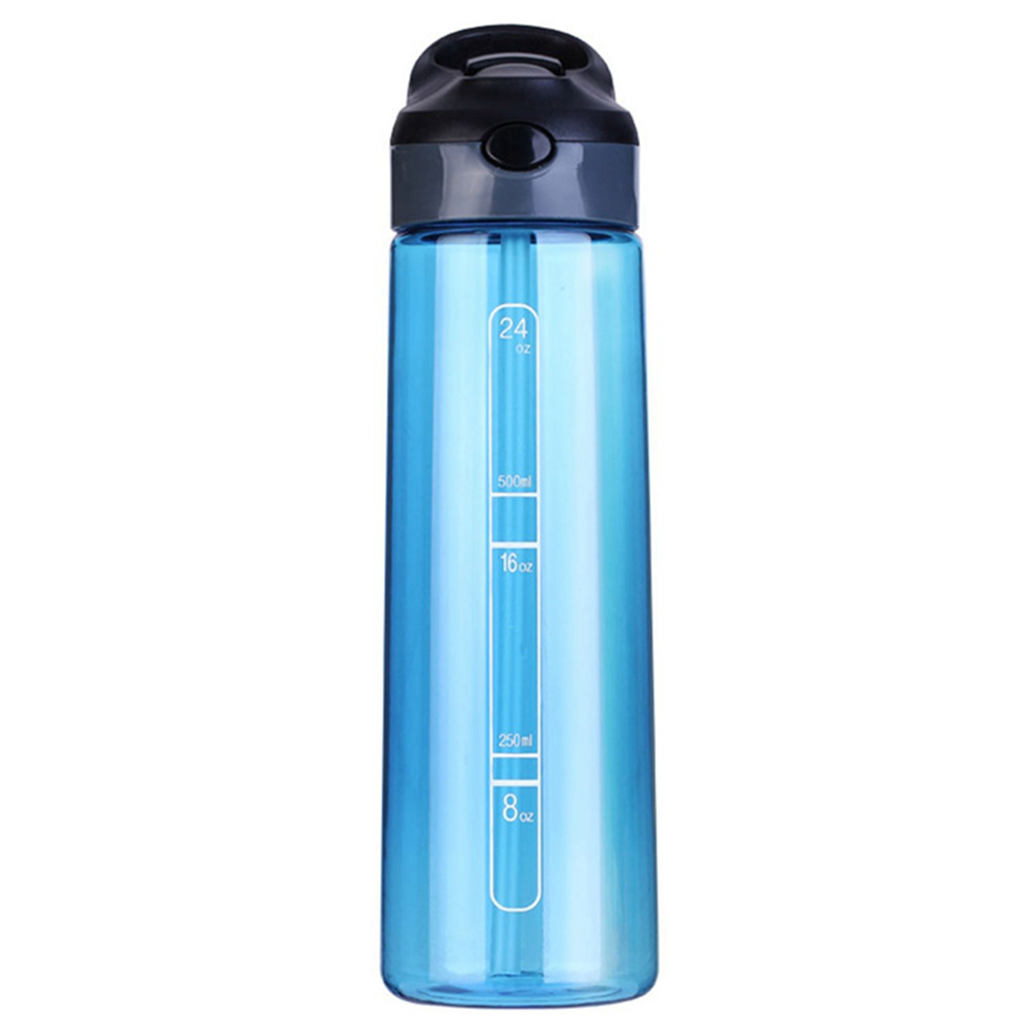 Student Simple One Button Bucket Suction Cup Rock Climbing Hiking Camp Sports Water Bottle Blue Plastic 700Ml|Outdoor Tools| |  -