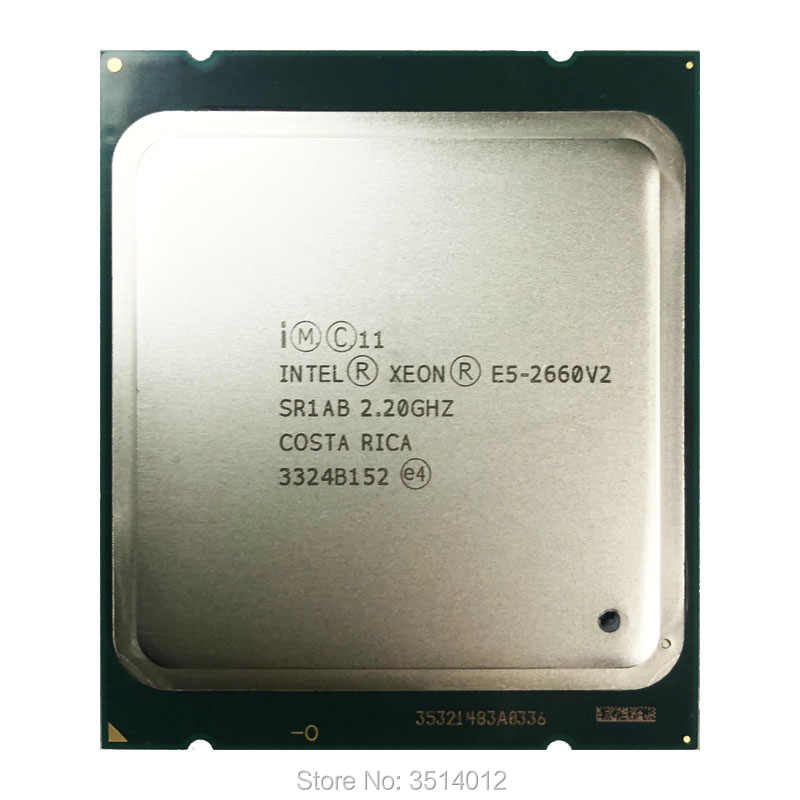 Intel Xeon E5-2660v2 E5 2660v2 E5 2660 v2 2.2 GHz Ten-Core Twenty-Thread CPU Processor 25M 95W LGA 2011