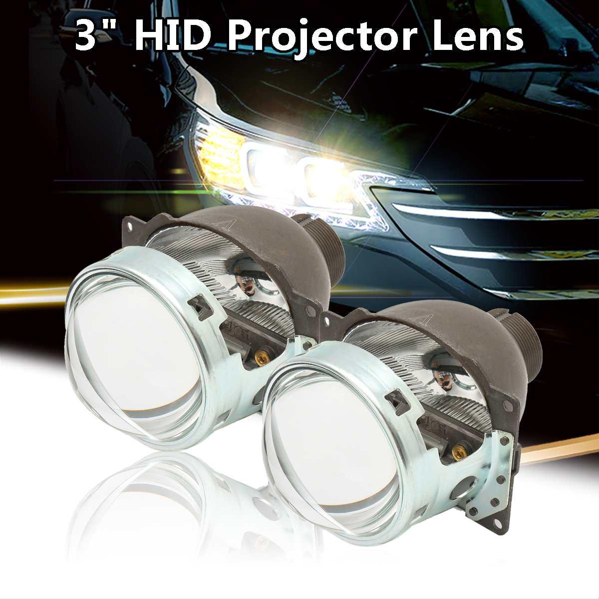 2 pièces 3 pouces H4 voiture phare projecteur Len Q5 D2H D2S bi-xénon pour HID phare/antibrouillard projecteur lentille Kit RHD