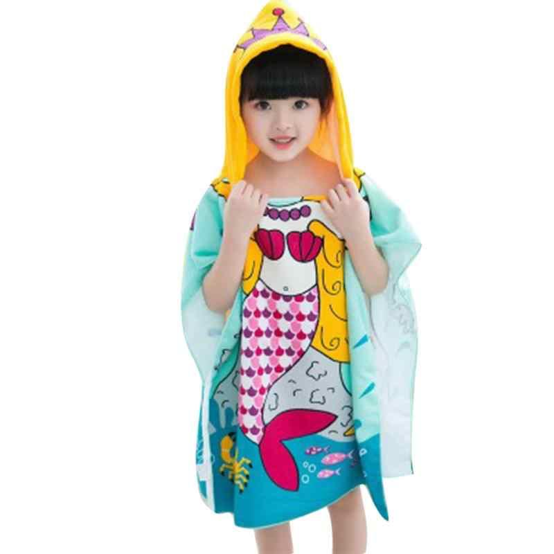 Fish Pattern Children Beach Towel Cartoon Hooded Boys Girl Baby Bath Towel Soft Comfortable Lovely Children Towel  Baby Caring