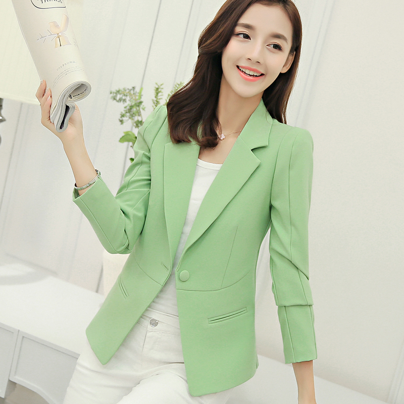 2019 Promotion Sale Blazer Feminino Spring And Summer Slim Sleeve Small Suit Jacket Ladies Go With Casual Women Blazers Jackets