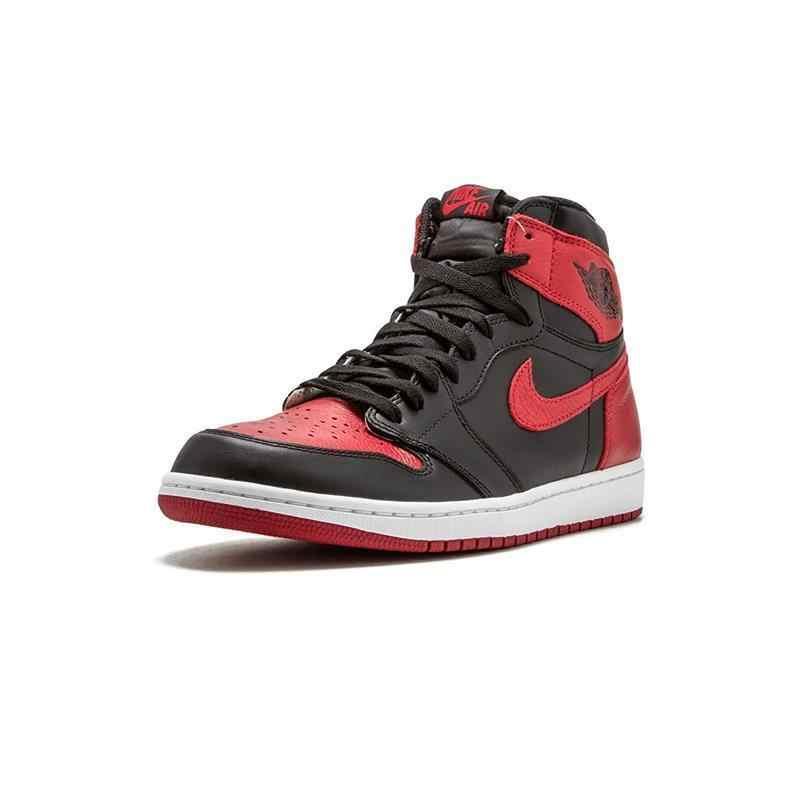 best website 57a49 c82ee Nike Air Jordan 1 Retro High OG AJ1 Black And Red Original Breathable Men's  Basketball Shoes Sports Sneakers #555088-001