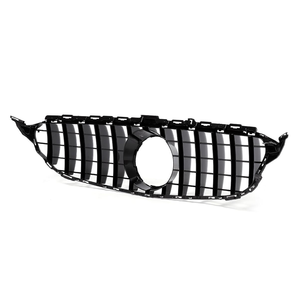 Grille avant de voiture grilles maille de pare-chocs avant de voiture pour W205 pour AMG Look C200 C250 C300 C350 2015-2018