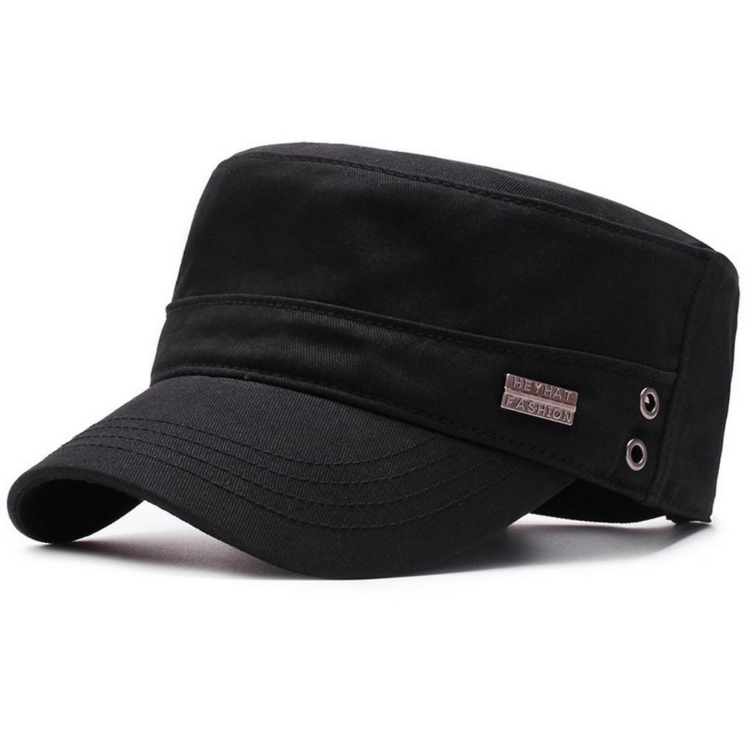31aa6a8705fe8f Detail Feedback Questions about Men Fashion Casual Cool Big Cap Brim Solid  Adjustable Flat All Years Top Army Three colors are available.