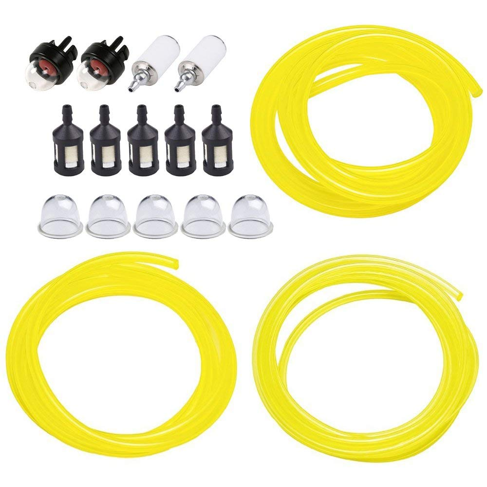 medium resolution of 5 feet 3 sizes fuel line hose with snap in bulb pouland bulb fuel