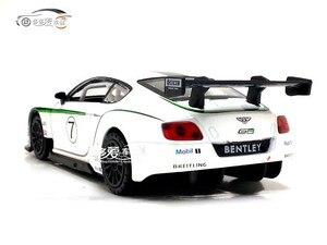 Image 2 - 2019 Hot 1:32 Bentley Continental GT3 Alloy samochodów Diecasts Model pojazdów wycofać dźwięk światła prezent kolekcja zabawki dla dzieci