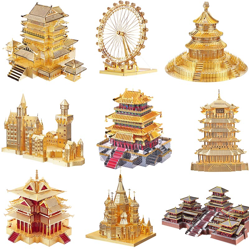 Puzzles Piececool 3d Metal Puzzle Toy Assembly Building Kits Diy Architecture Model Eiffel Tower White House Funny Toys For Kids Gift Attractive And Durable