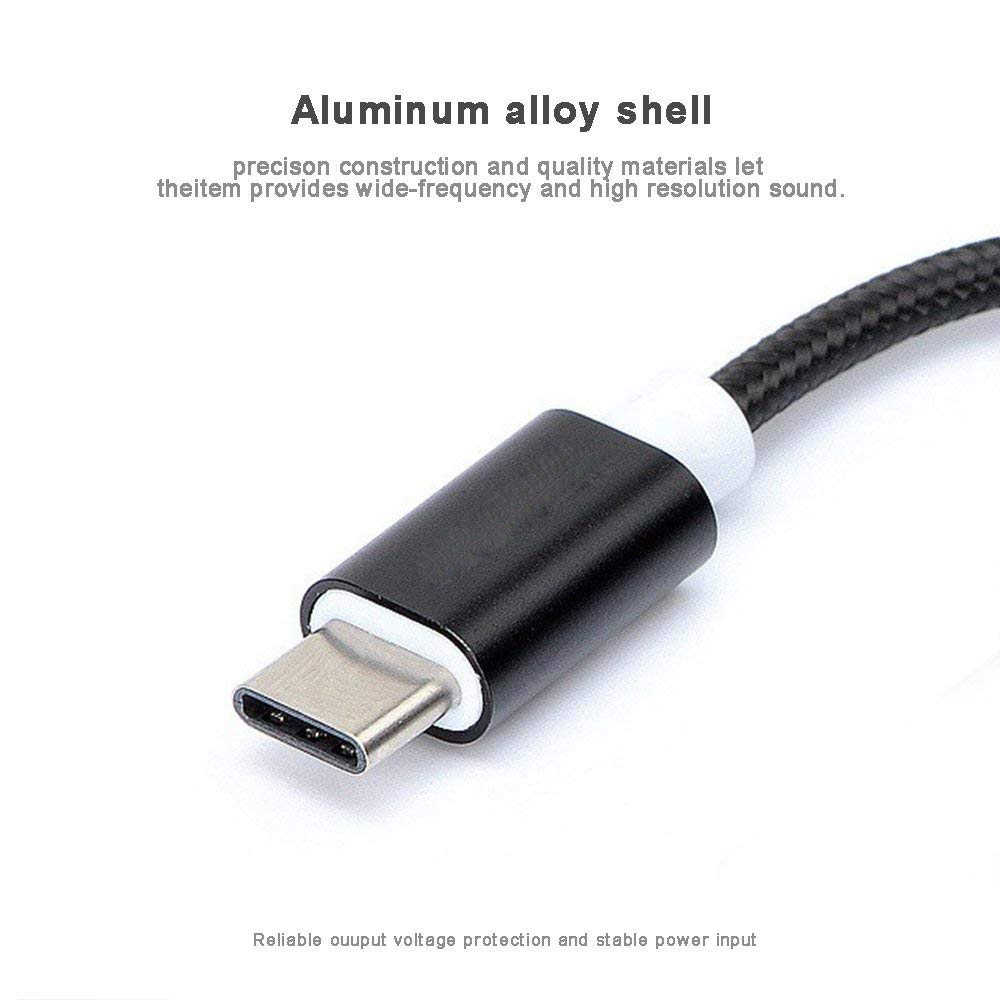 4 Colors Type C to 3.5 Earphone Adapter USB 3.1 Type-C USB-C Male 3.5mm AUX Audio Jack Cable Converter Headphone Headset Adapter
