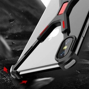 Image 2 - R JUST الألومنيوم معدن عارية الإطار حقيبة لهاتف أي فون XR XS ماكس صدمات X شكل الوفير غطاء آيفون XS ماكس X XR حماية