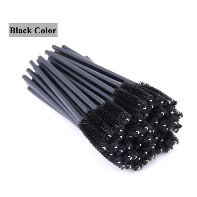 GLAMLASH premium 50Pcs disposable eyelash extension cleaning brush Micro Mascara wand lash eyebrow brush Applicator Spoolers 3