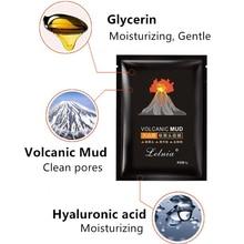 Blackhead Remover Nose Masks Peeling Black Mask Face Mask Acne Treatment Pore Strip Black Head Peel Mask Skin Care Volcanic mud