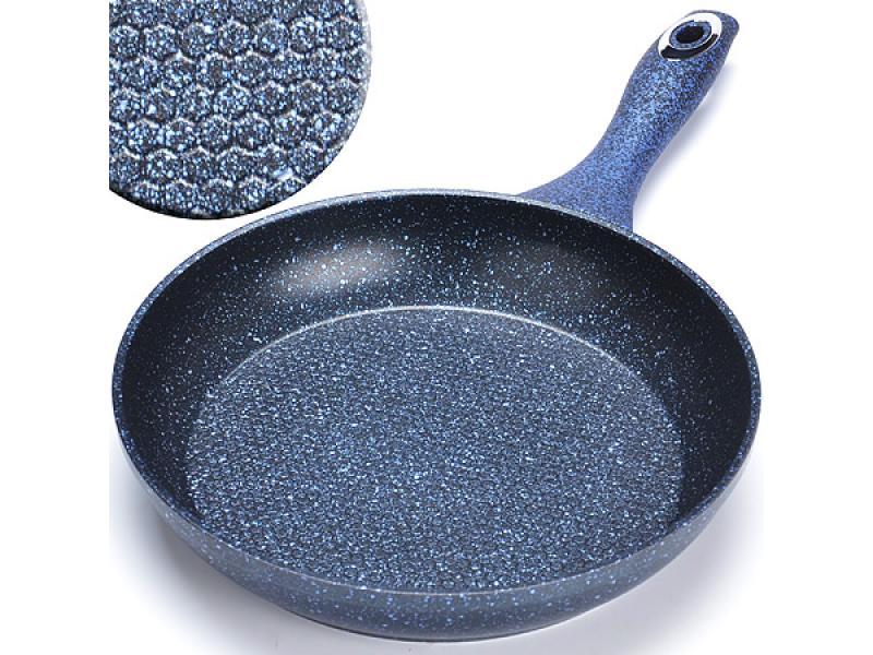 Frying Pan MAYER & BOCH, 20 cm, blue, grooved frying beef pan