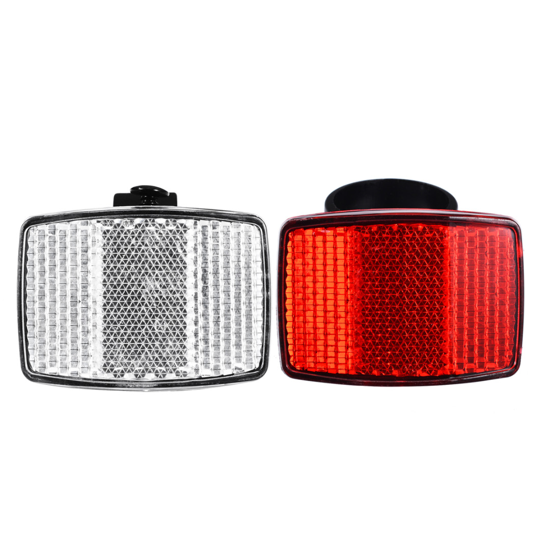 Bicycle Front Rear Reflector Bike Reflective Lens Cycling Accessories Safety USA