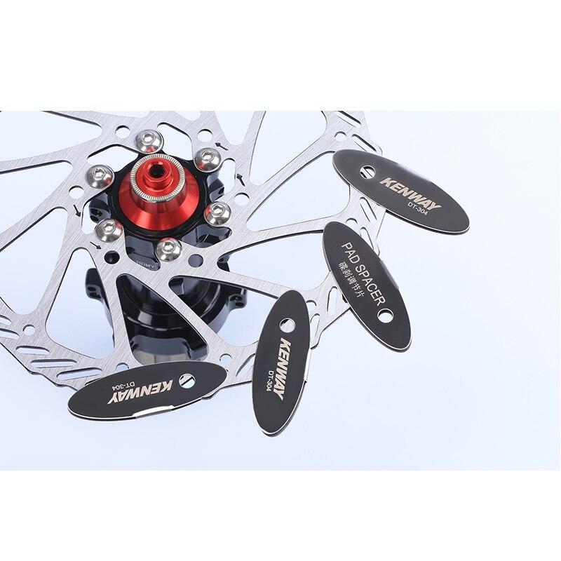 MTB Disc Brake Pads Adjusting Tool Bicycle Pads Mounting Assistant  Brake Pads Rotor Alignment Tools Spacer Bike Repair Kit 4