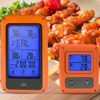 Kitchen Thermometer Wireless Touch Screen Bluetooth BBQ Cooking Food Thermometer Dual Channel Digital Display Backlit Function